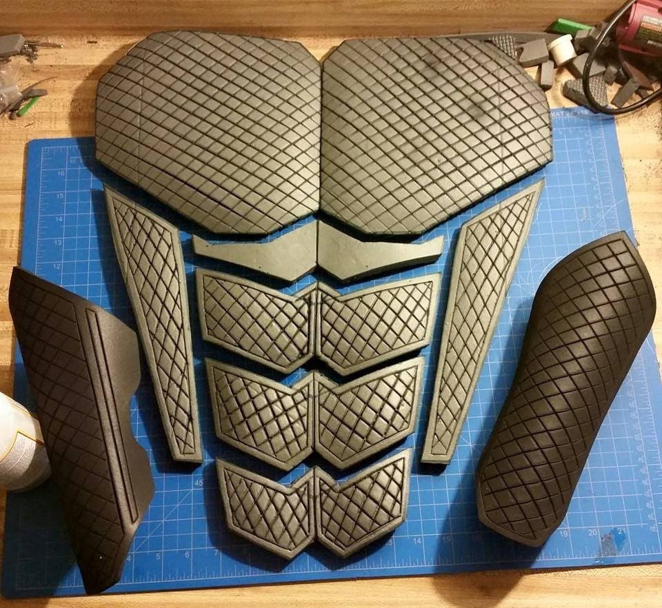 How to make clean straight detail lines in EVA foam cosplay armor by Homemade Armor Designs on homemade body armor, homemade cardboard armor, homemade bulletproof armor, homemade iron man armor,