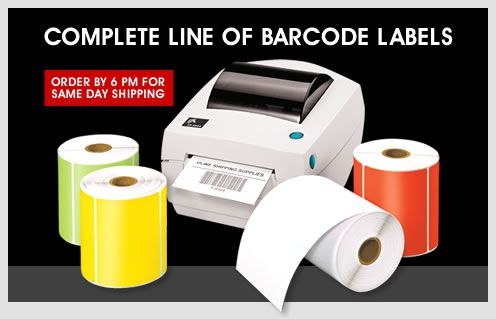 Uline - Complete Line Of Barcode Labels - Order by 6 PM for