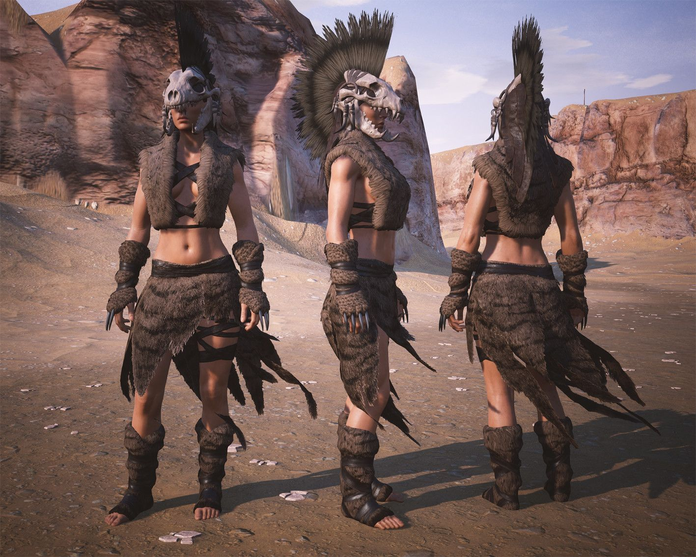 ArtStation - Conan Exiles - Hyena fur armor, Jenni