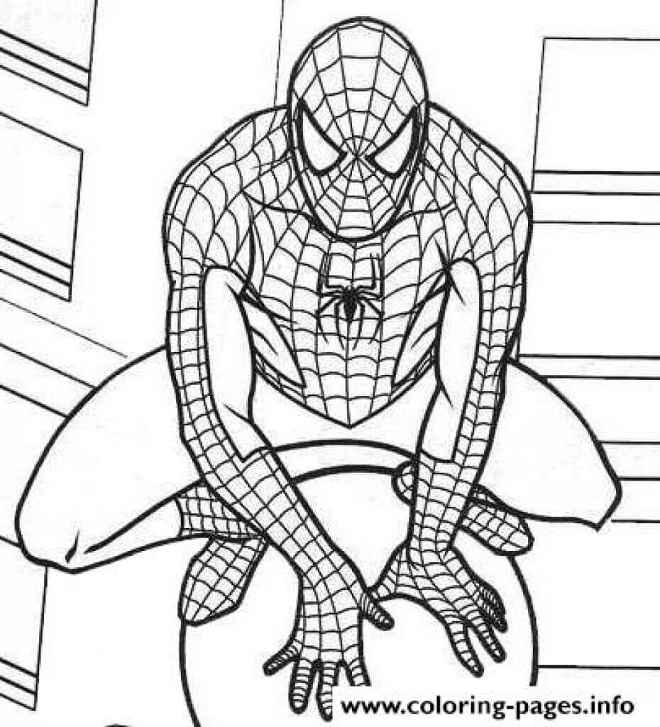 Printable Marvel Coloring Pages All Pertaining To Page Spiderman Coloring Marvel Coloring Avengers Coloring