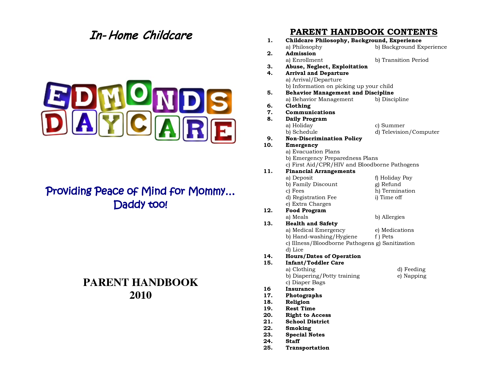 Home Daycare Schedule | In-Home Childcare | Daycare | Pinterest