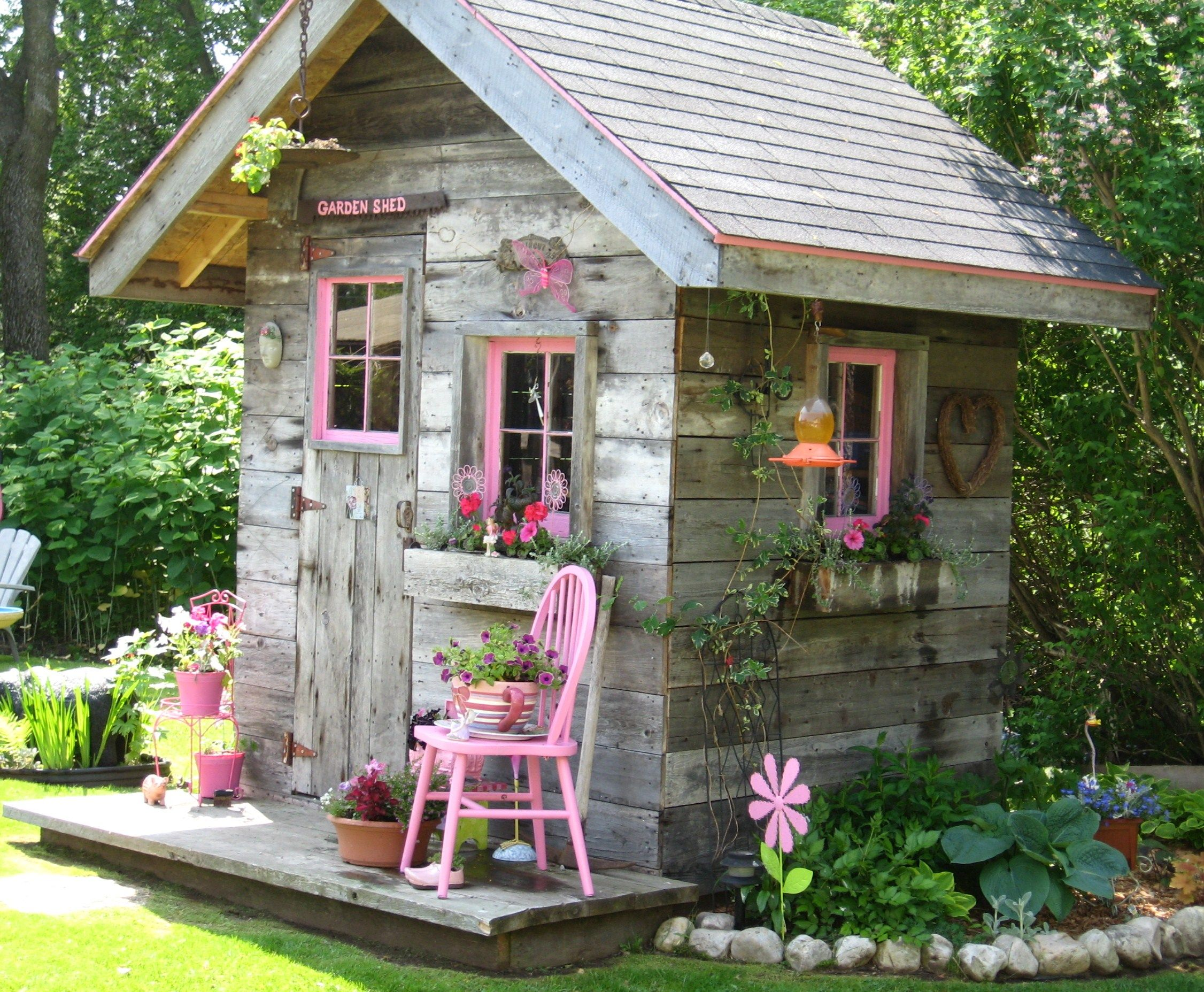 My Garden Shed My Bf Made With Mostly Recyled Materials Love It