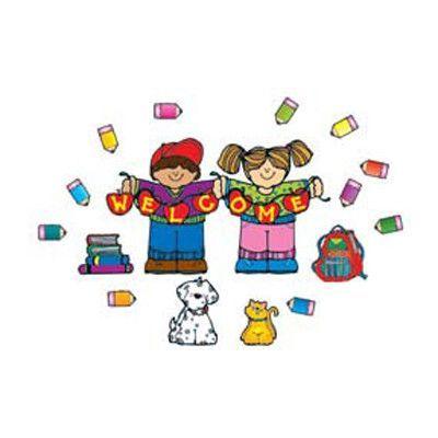 Carson Dellosa Publications Apple Kids Welcome Bulletin Board Cut Out