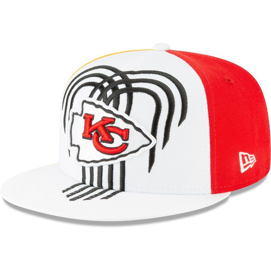 uk availability 945e6 ab8d7 Kansas City Chiefs New Era 2019 NFL Draft On-Stage Official 9FIFTY  Adjustable Snapback Hat – White, Your Price   34.99