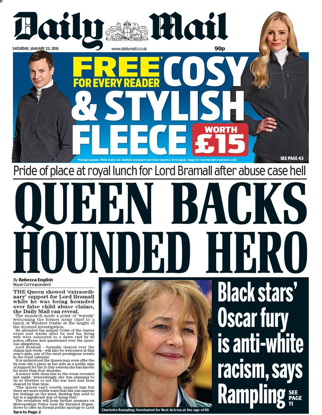 Saturday's Daily Mail front page: Queen backs hounded hero #tomorrowspaperstoday #bbcpapers https://t.co/MquIuyizsZ