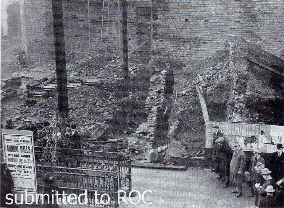 Old City Walls Being Excavated 1924 Cardiff City