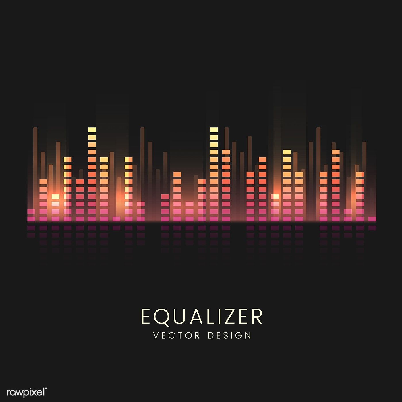 Colorful sound wave equalizer vector design | free image by rawpixel