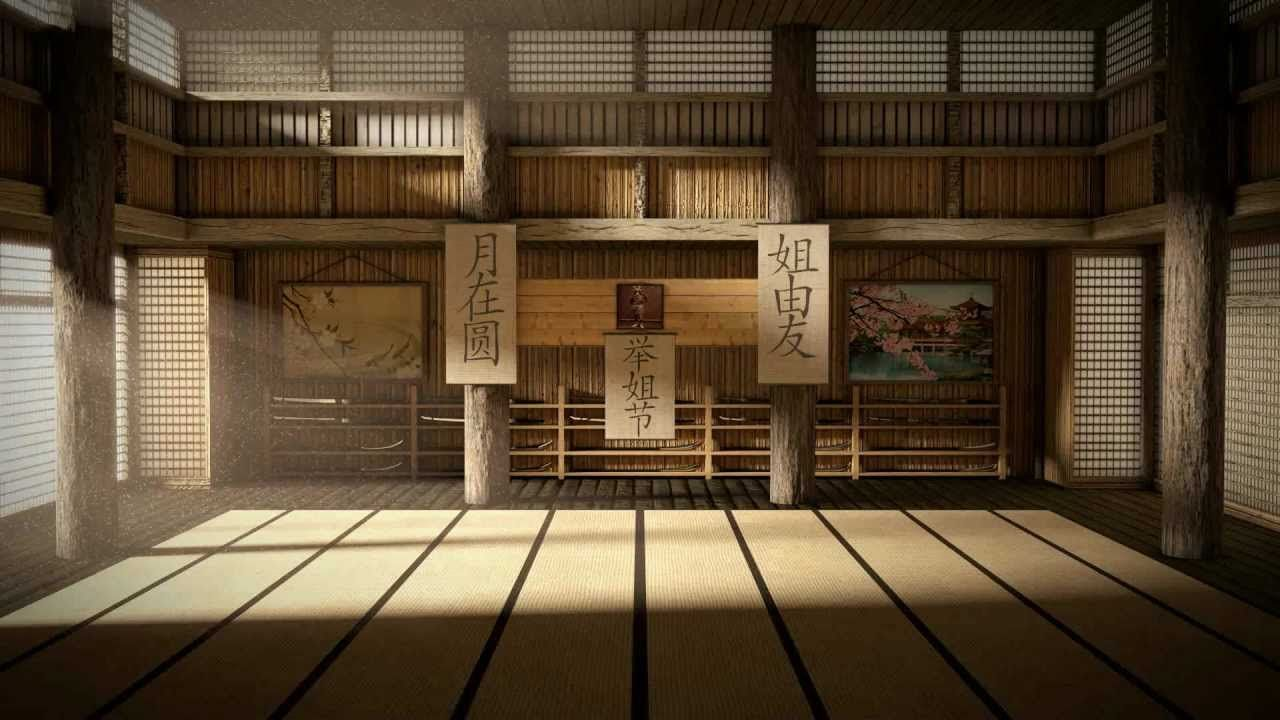 Traditional japanese dojo interior google search dojo for Japanese indoor design