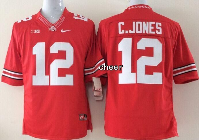 competitive price d7b33 bad55 NCAA Limited Jerseys Ohio State Buckeyes 12 C.jones red ...