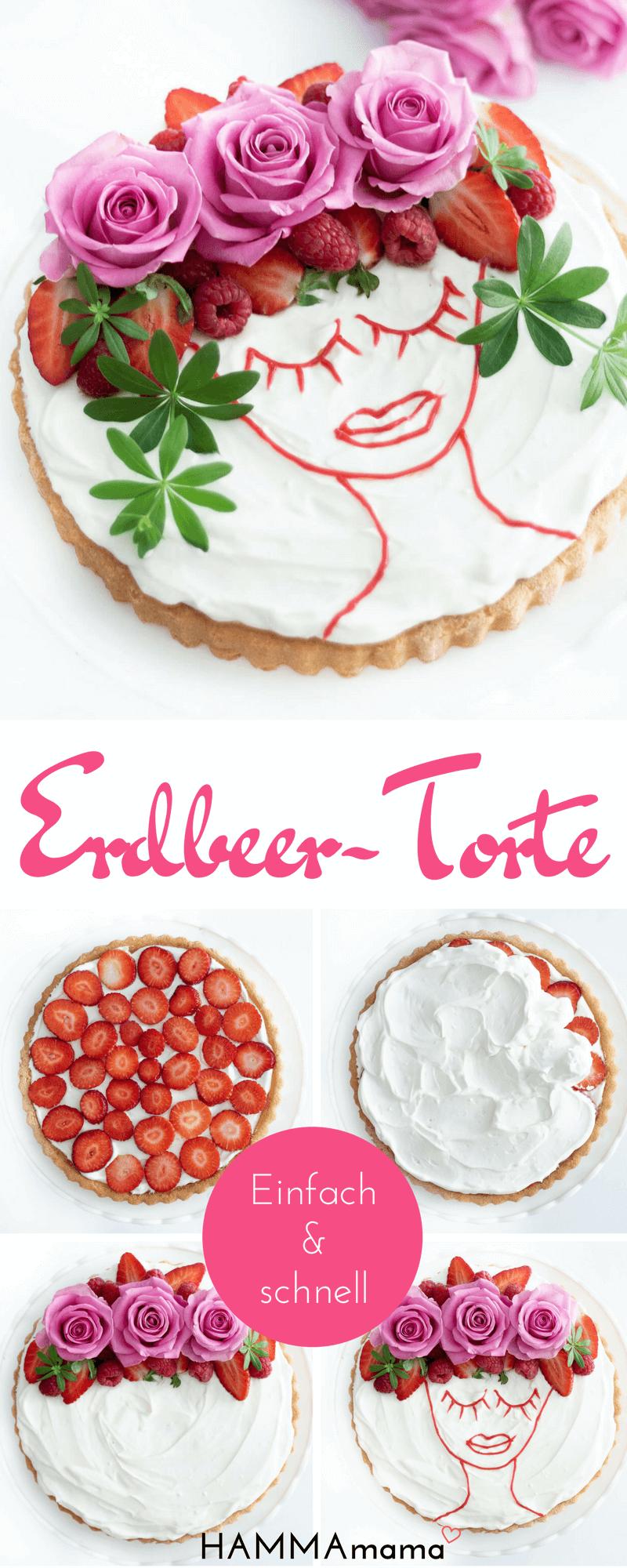 Oh là là! ° Eine trés chic Erdbeer-Torte schnell und einfach selber machen – HAMMAmama ° Skandinavisch Wohnen, Deko, DIY, Selbermachen