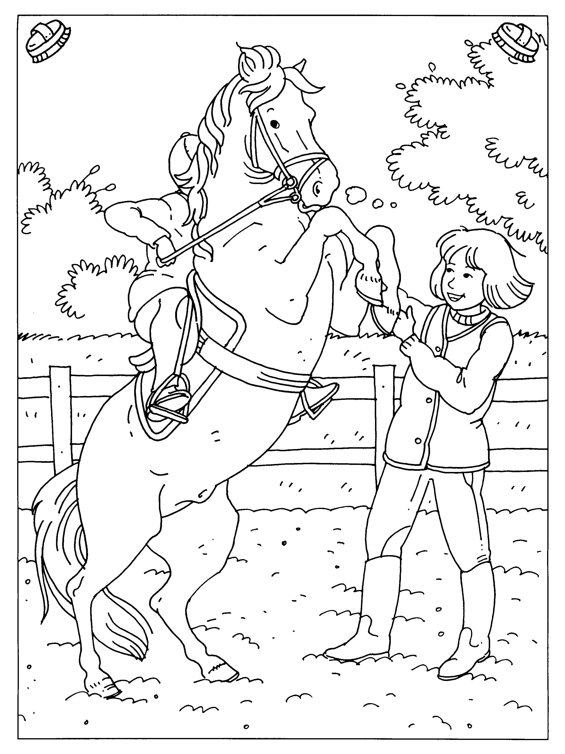 Paarden Kleurplaten Boek.Pin Van Judith Pors Op Paarden Kleurplaten Paard