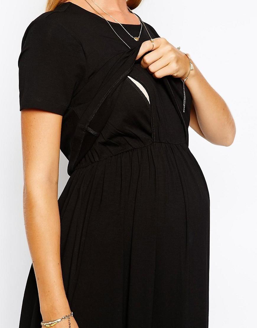 d0bf4f0880cb2 ASOS Maternity | ASOS Maternity NURSING Maxi Dress With Double Layer at ASOS