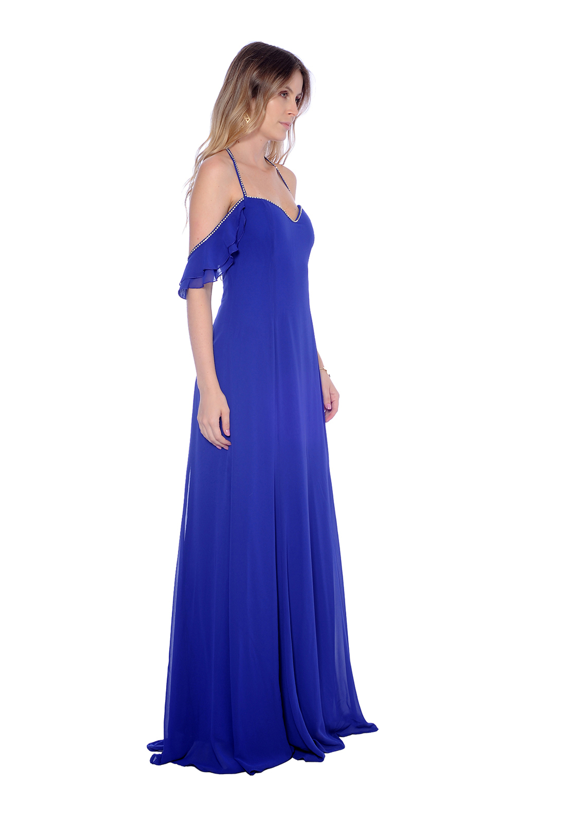 Vestido Gowara Festa Azul Royal Gowara