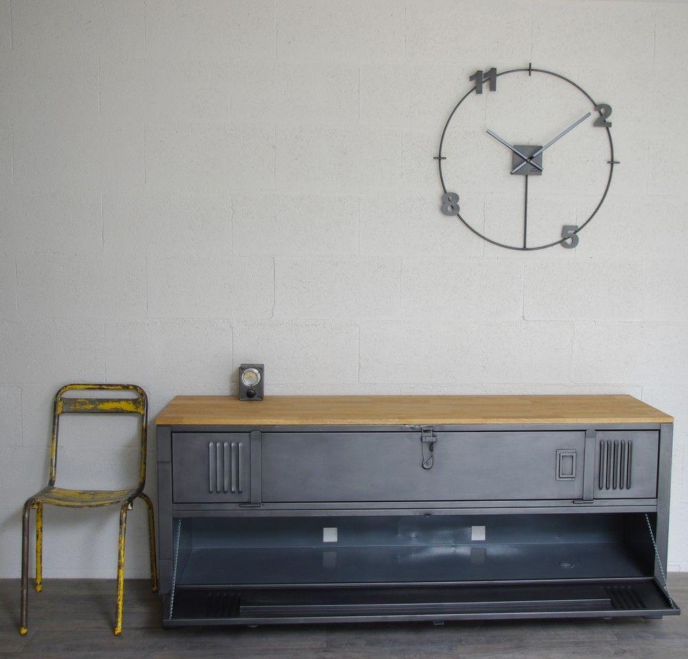 Meuble Tv Industriel Chambre Pinterest Meuble Tv Industriel  # Meuble Artisanal Pour Tv
