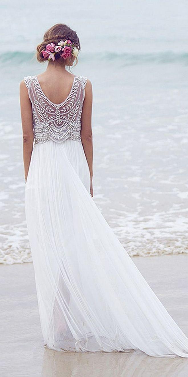 Wedding dresses beach  Marvelous  Beautiful Beach Wedding Dresses to Inspire You