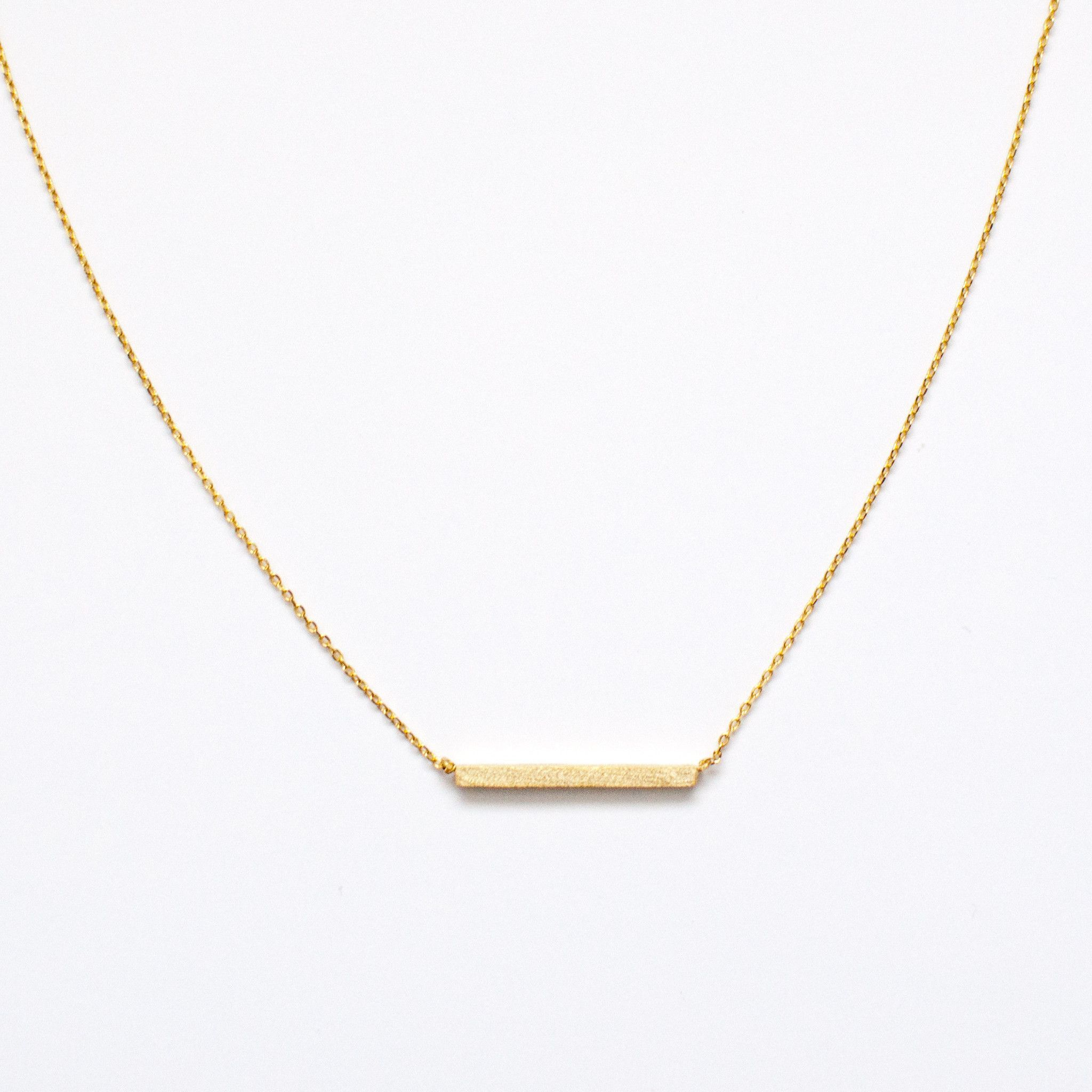 Dainty gold bar necklace perfect for the minimalist and simple dainty gold bar necklace perfect for the minimalist and simple accessorizing 16 chain mozeypictures Image collections