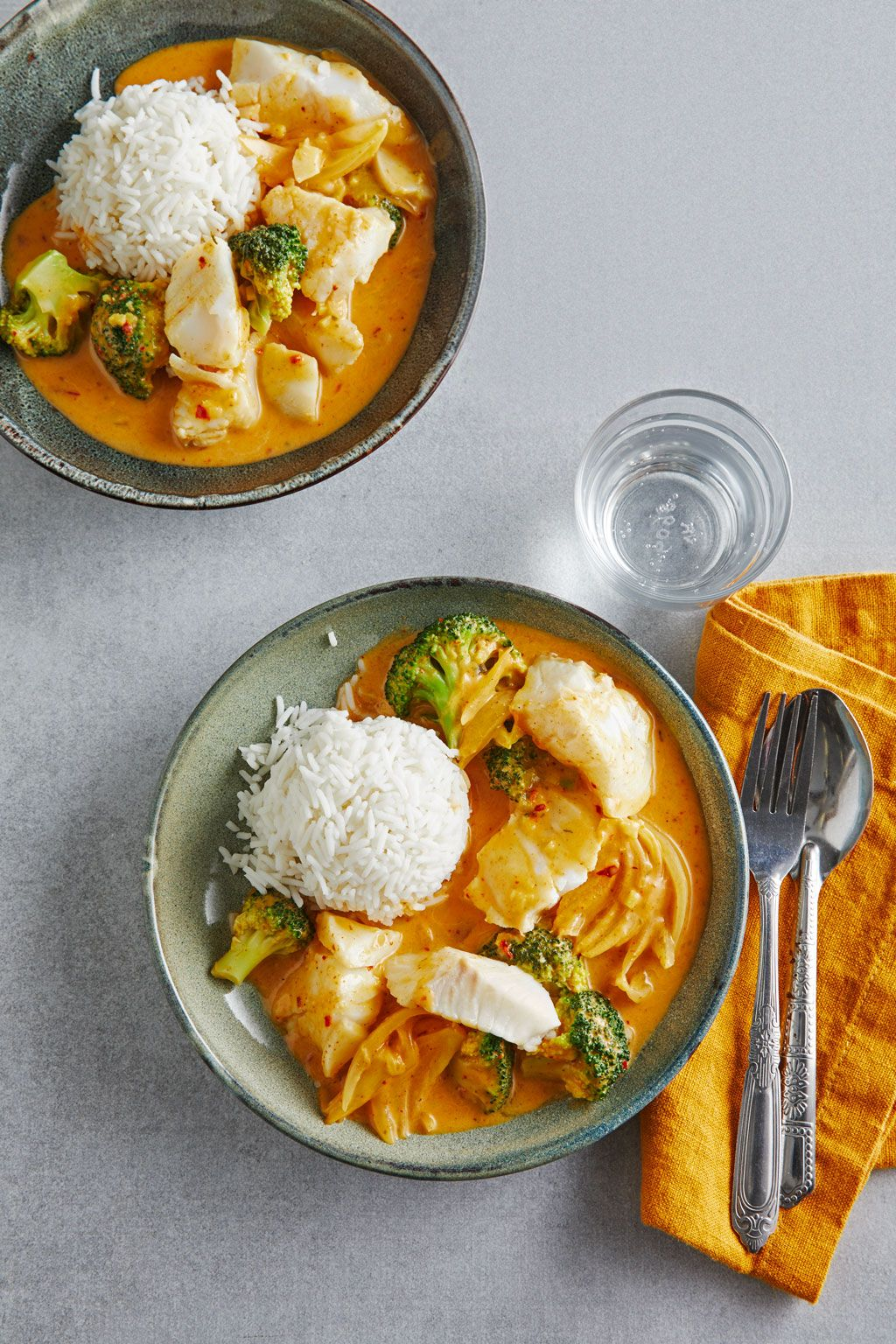 Photo of Fish curry with broccoli by Pyrrhocorax | chef