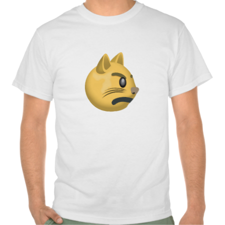 Pouting Cat Face Emoji TShirt (With images