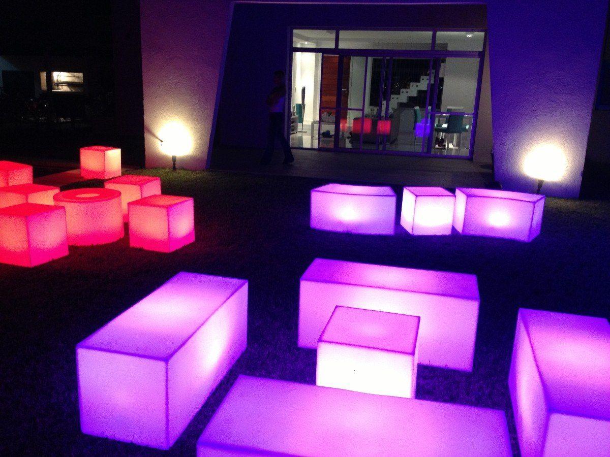 Mobiliario para fiestas iluminados l mparas luces - Luces para salon ...