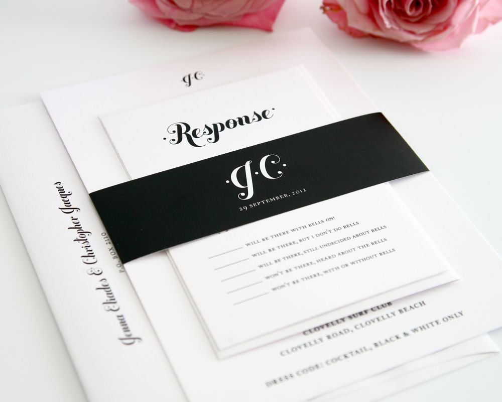Tips for Choosing Black and White Wedding Invitations Modern Designs ...