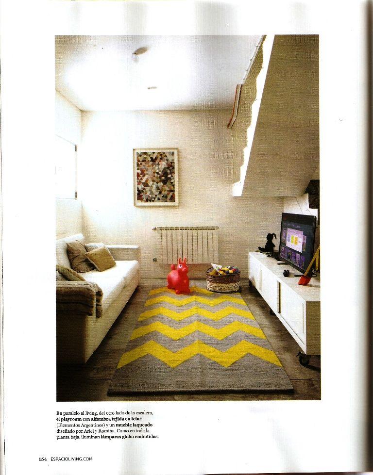Revista living con alfombras tejidas a mano en telar en for Alfombras artesanales tejidas a mano