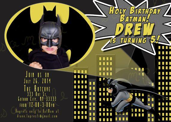 Custom Batman Superhero Birthday Invitation By CutesyCustomDesigns 1300