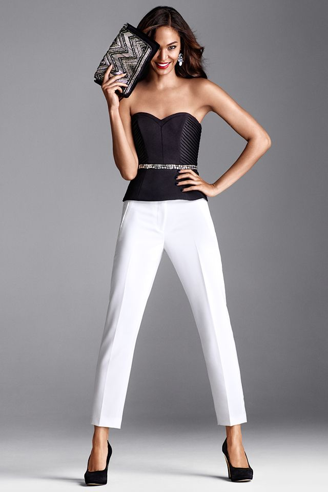 H&M Strapless Top $49.95 | Trendy party outfits, White party outfit, Party outfit