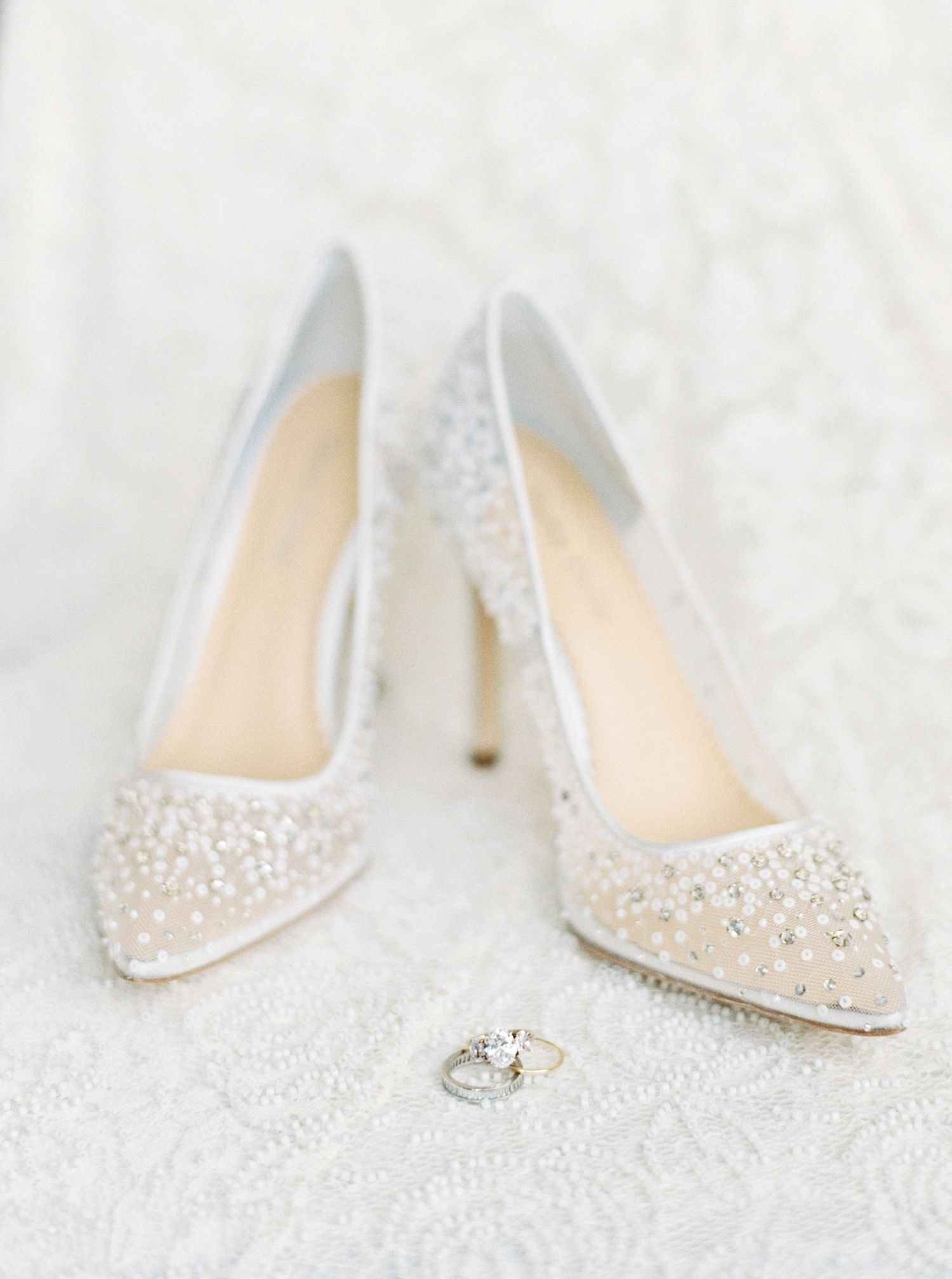 The Epitome Of A Cozy Chic Wedding Wedding Heels Sparkly