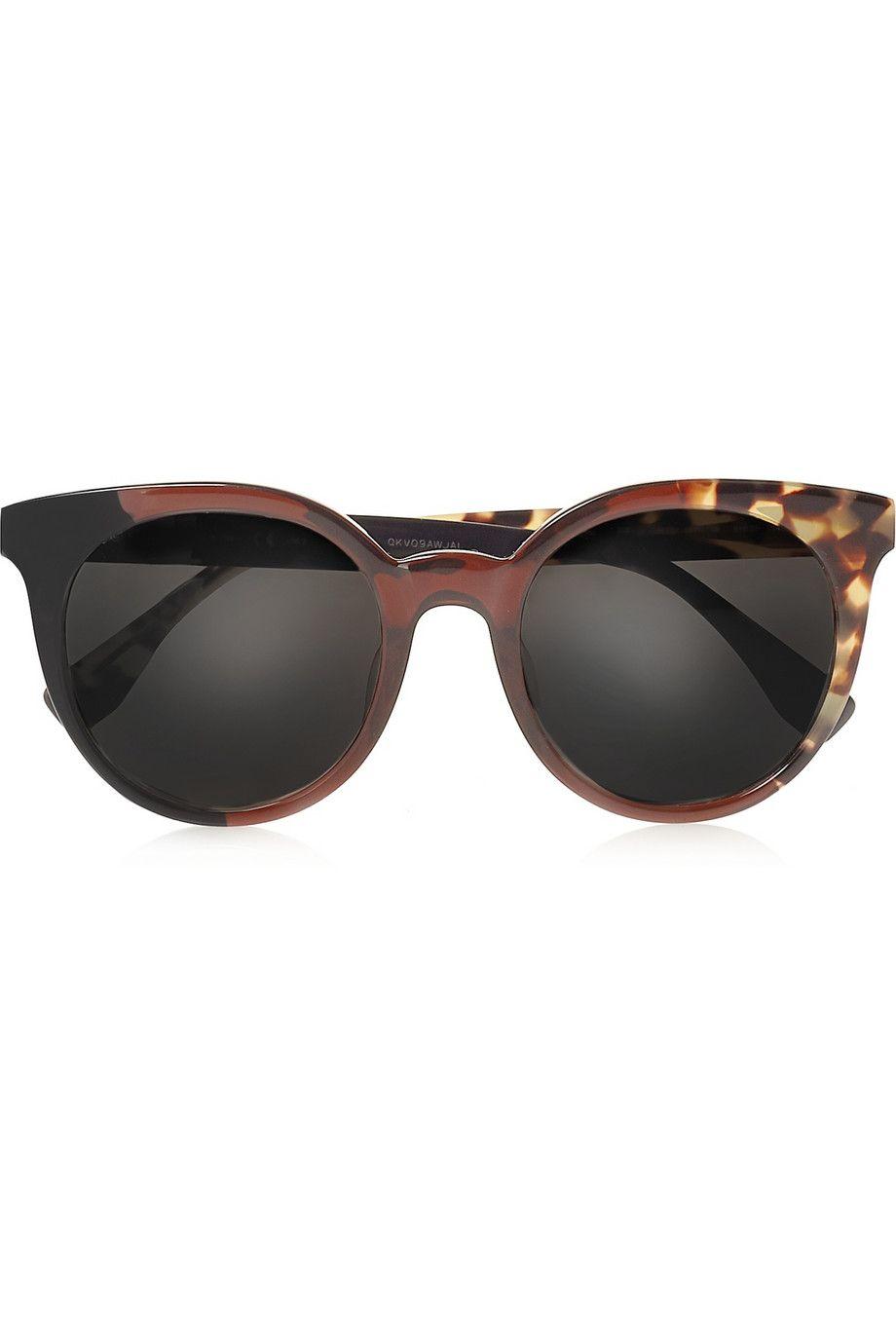 Fendi | Round-frame acetate sunglasses | NET-A-PORTER.COM | Shopping ...