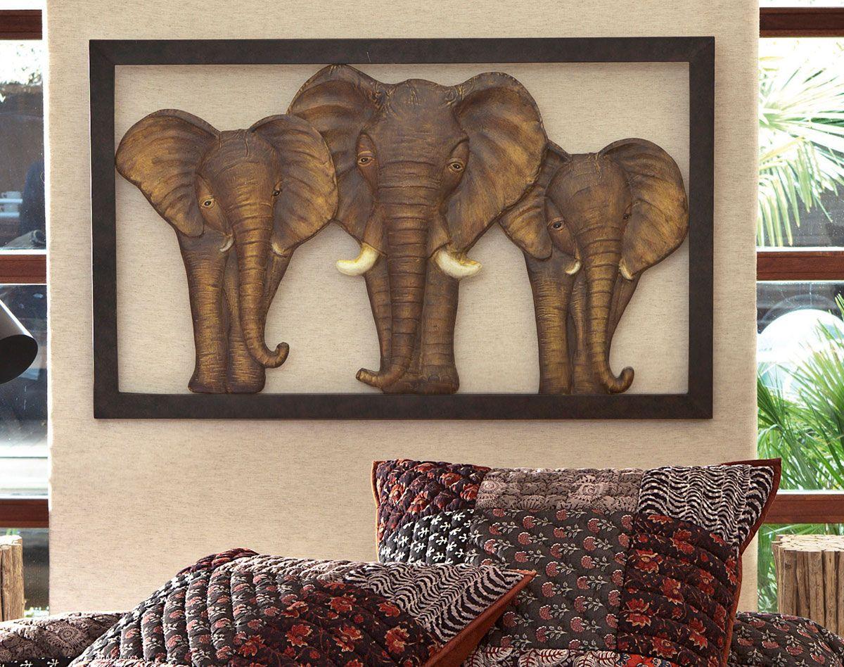 cadre lphants ajour becquet - Cadre Elephant