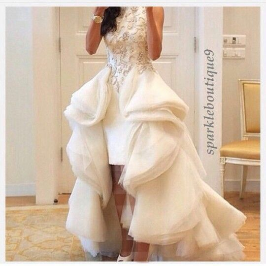 Snail frill/ruffle style gown