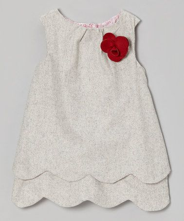 bdcbfa74b097 Take a look at this Gray Scalloped Wool-Blend Swing Tunic - Girls by ...