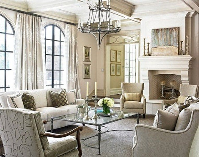 15 Inspiring Beige Living Room Designs | DigsDigs. I Like The Arched Windows
