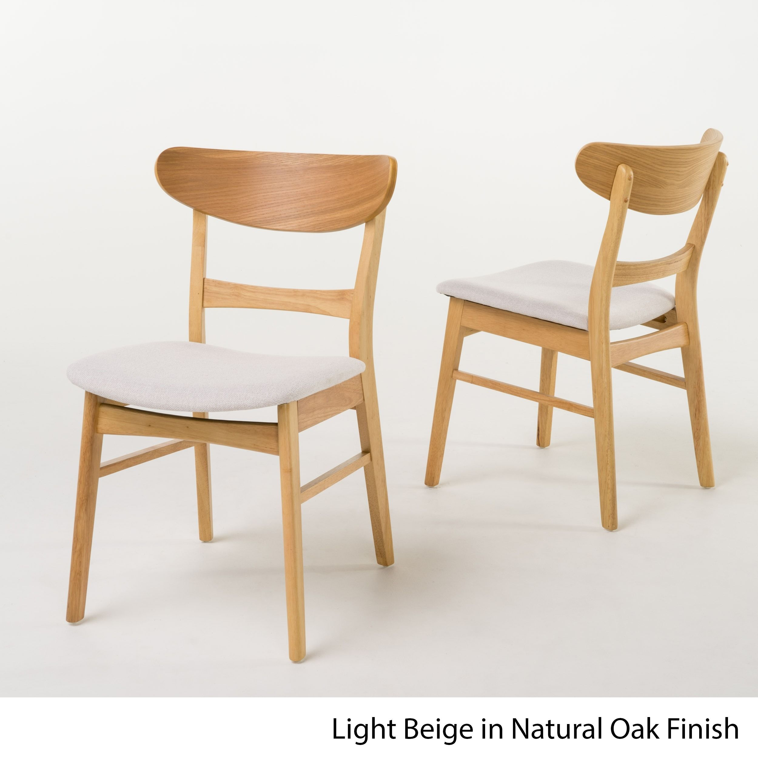 Idalia Mid Century Fabric Dining Chair Set of 2 by Christopher