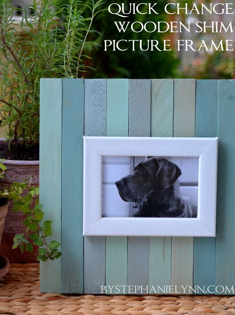 Make Your Own Quick Change Wooden Shim Picture Frame | Change, Craft ...