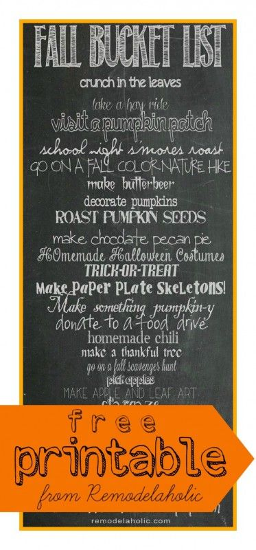 How cute is this fall bucket list from @Remodelaholic .com .com?