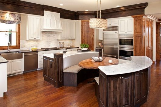 Seating at end of kitchen island google search for Kitchen island with rounded end