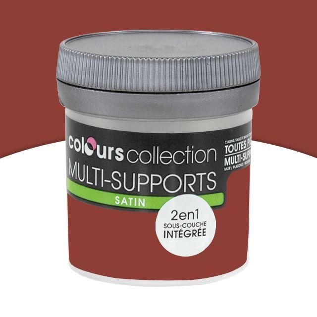 Peinture Multi-Supports Colours Collection Rouge Brique Satin 0,05L