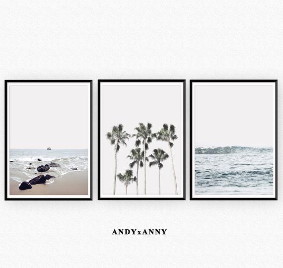 Set of 3 Prints, Printable Wall Art, Beach Prints,