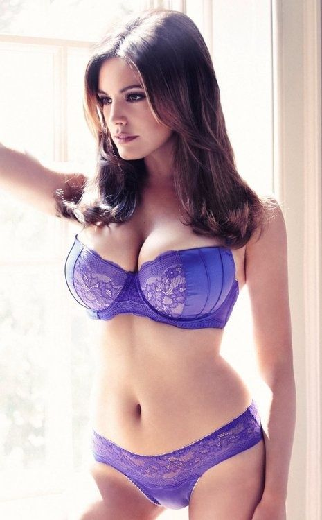 Really. Brunette purple lingerie nonsense!