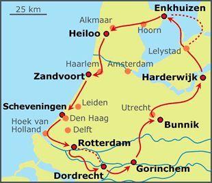 Sand Und Seetour Radtour In Holland Bike Netherlands Com