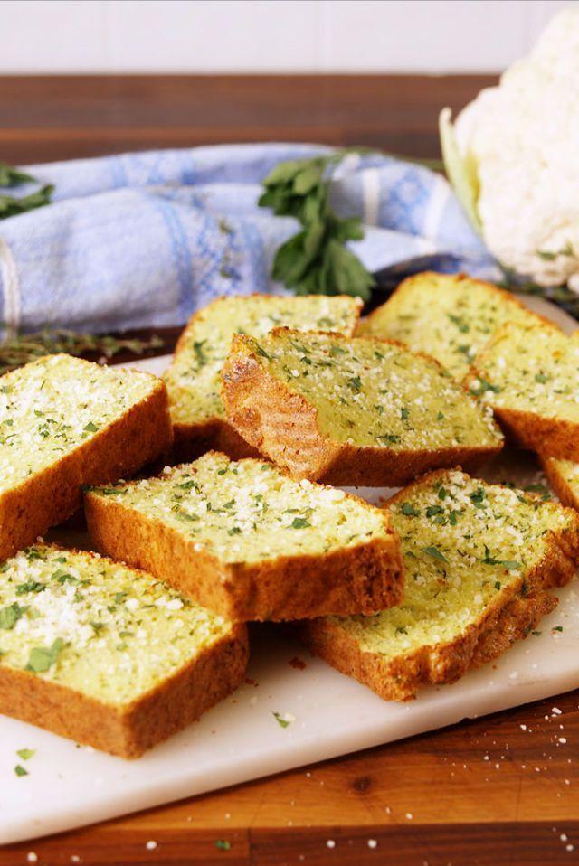 Cauliflower Garlic Bread Recipe Appetizers Cauliflower