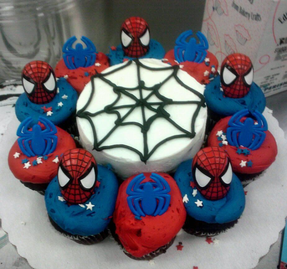 how to make spiderman cake decorations