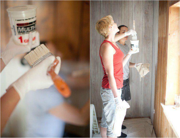 Lambris Bois Blanc Inviter Le Style Campagne Chic à La Maison - Peindre du lambris bois en blanc