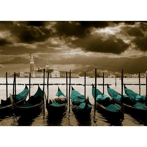 Photo of East Urban Home canvas print Around the World Venice, photo print in blue   Wayfair.de