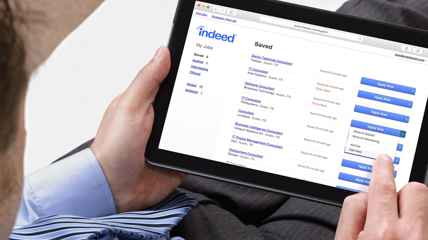 Stay on top of your career with advanced job search