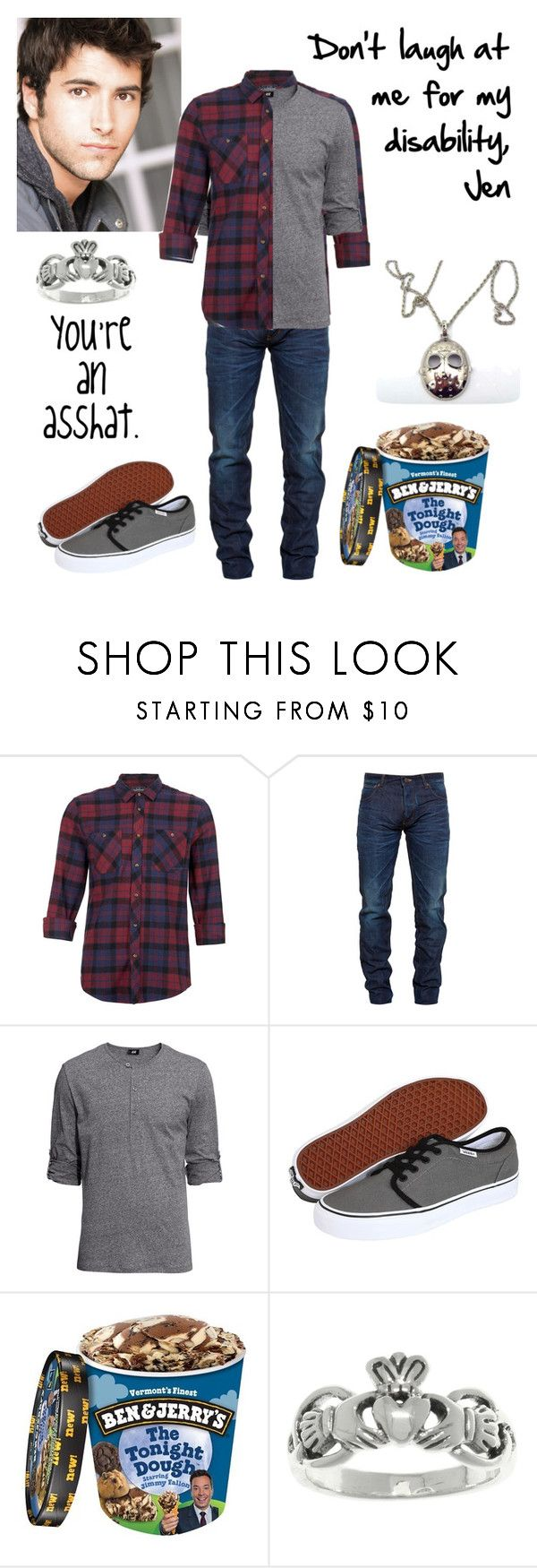 """""""Don't Wait (Alec)"""" by antinous ❤ liked on Polyvore featuring Topman, Snake & Dagger, H&M, Vans and Carolina Glamour Collection"""