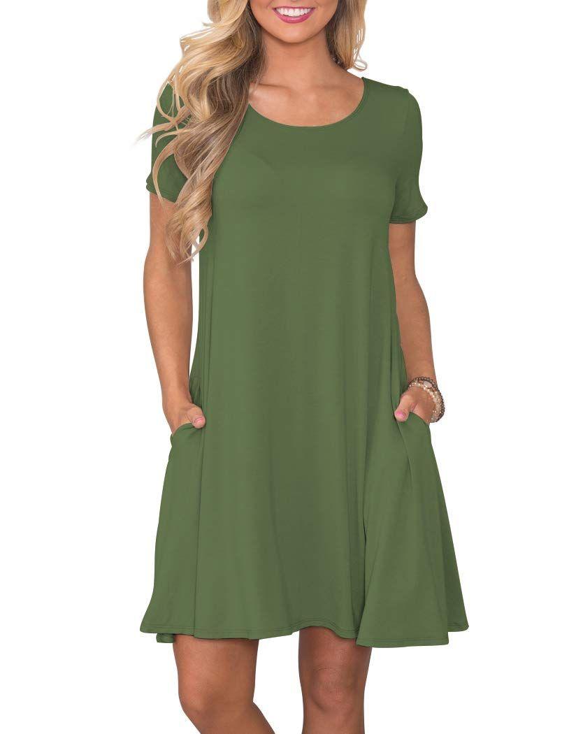 Korsis Women S Summer Casual T Shirt Dresses Short Sleeve Swing Dress With Pockets Dresses Dresse Amazon Dresses Short Sleeve Mini Dress Short Sleeve Dresses [ 1050 x 834 Pixel ]