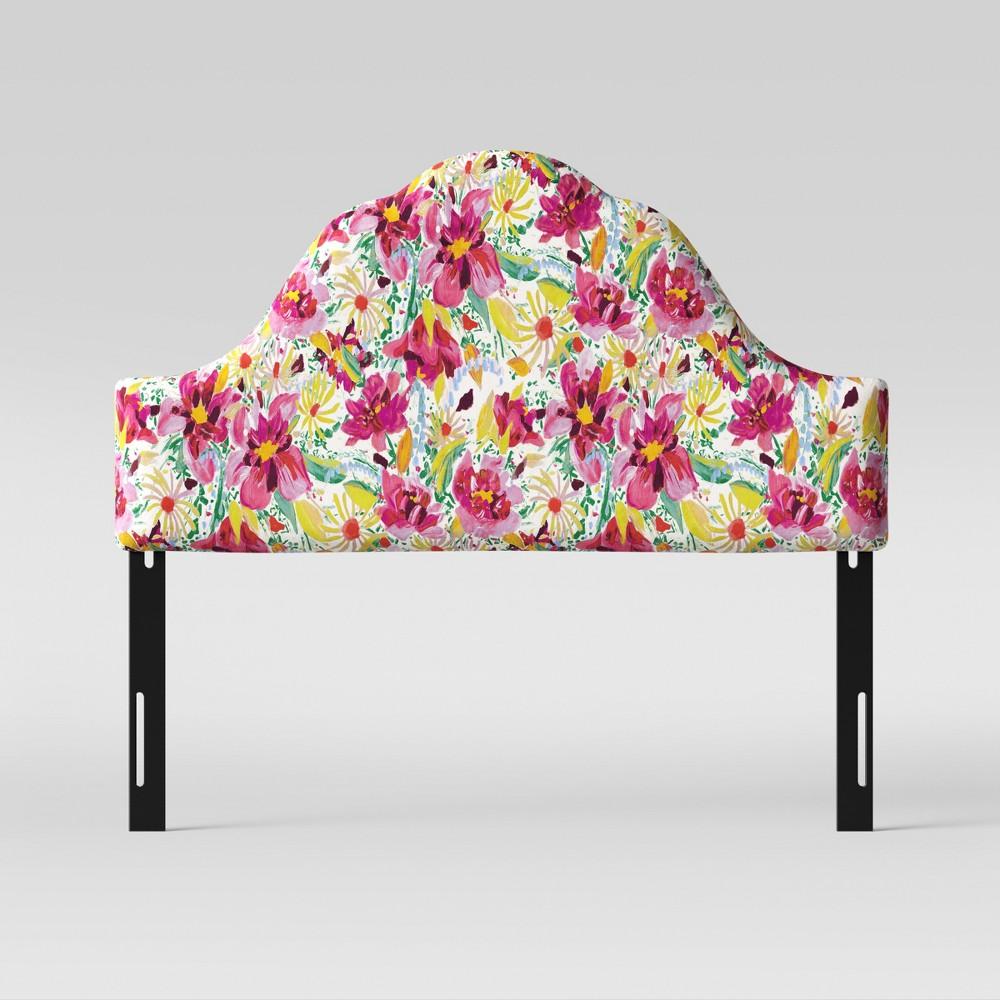Zinnia Arched Headboard California King Bright Floral Opalhouse