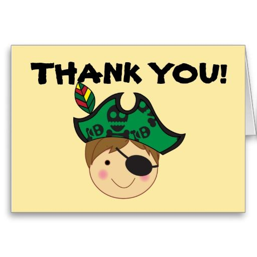Pirate Thank You Note Card  Note Cards